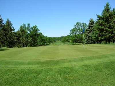 A view of a green at Waseca Lakeside Golf Club