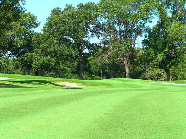 A view of a green at Carthage Golf Course