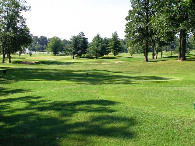 A view from a tee at Carthage Golf Course