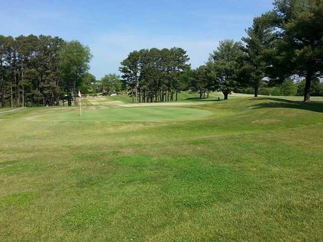 A view of a hole at Perryville Country Club