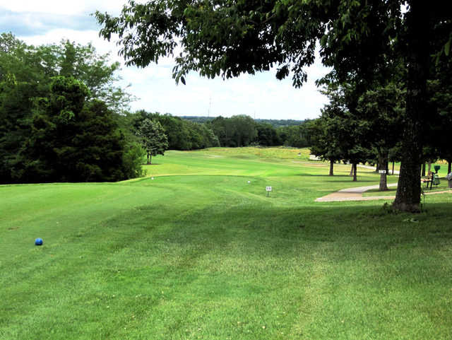 A view from the 1st tee at Shawnee Bend Golf Course