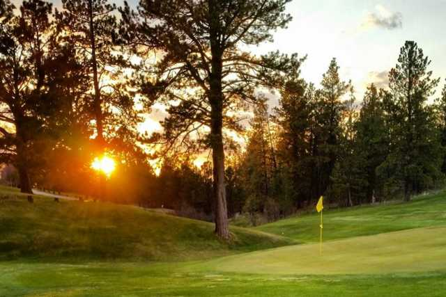 A view of a hole at Pine Meadows Golf Club