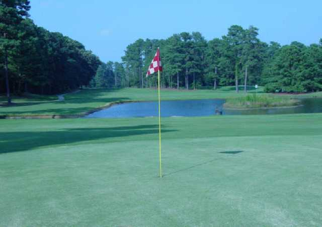 A view of a hole at Maccripine Country Club