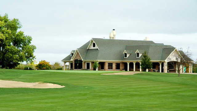 A view of the clubhouse at Hickory Point Golf Course