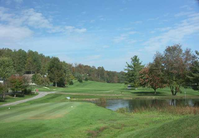 A view from a tee at Grassy Creek Golf & Country Club