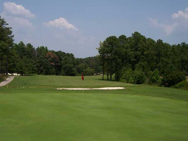 A view of a hole at Deercroft Golf Club
