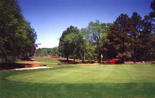 A view of a green at Willow Springs Country Club