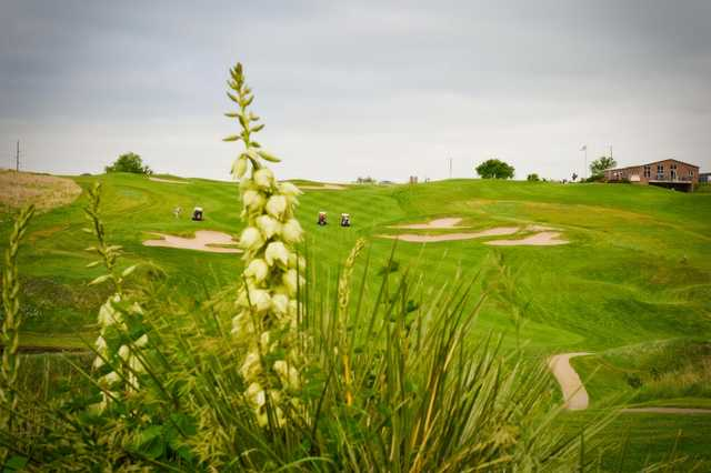 A view of the 9th hole at Heritage Hills Golf Course