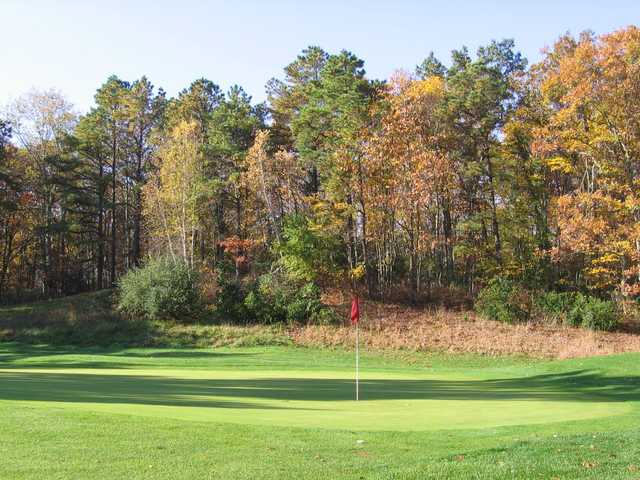 A view of a hole at Spring Meadow Golf Course