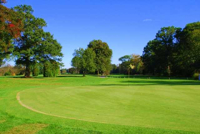 A view of the 14th hole at Springfield Golf Center