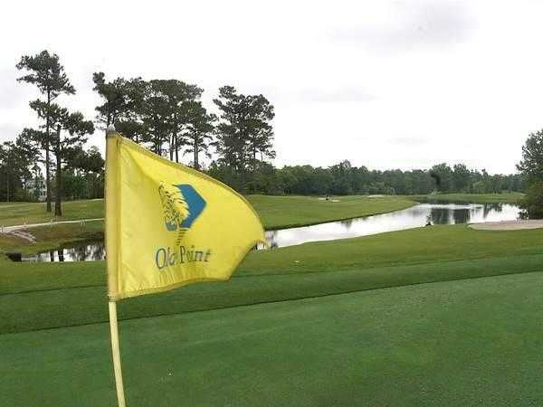 A view from a green at Olde Point Golf & Country Club