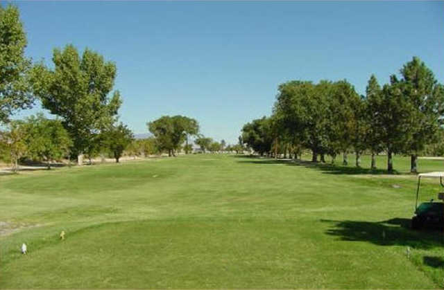 A view from tee #2 at Walker Lake Golf Course