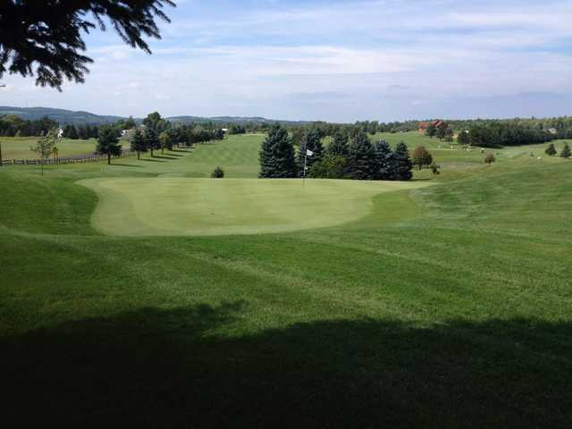 A view of a green at Barker Brook Golf Club