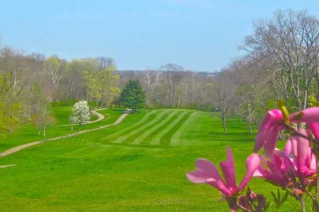 A view of a fairway at Potter's Park Golf Course