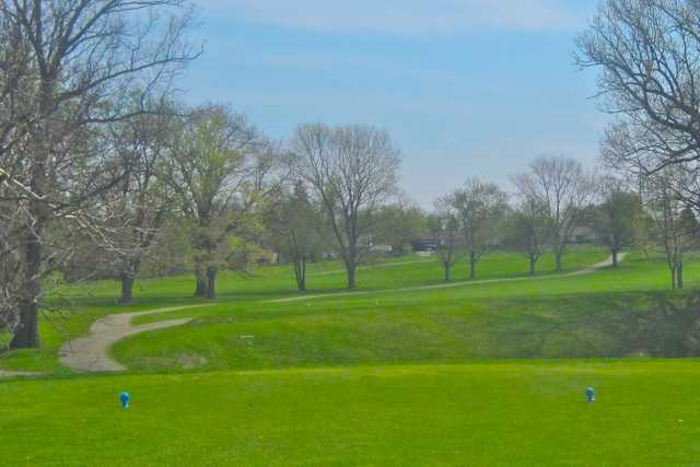 A view from a tee at Potter's Park Golf Course
