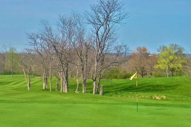 A view of a hole at Twin Run Golf Course
