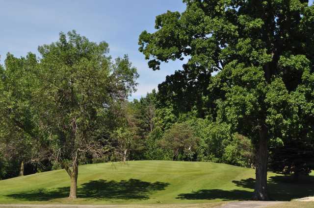 A view of green #4 at Willard Golf Club