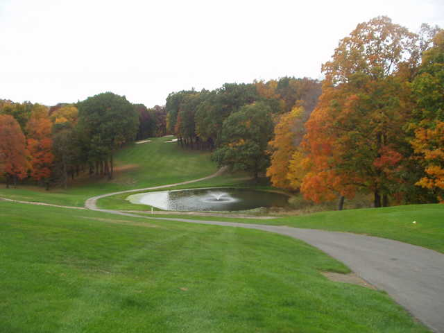 A fall view from Champion Lakes Golf Course