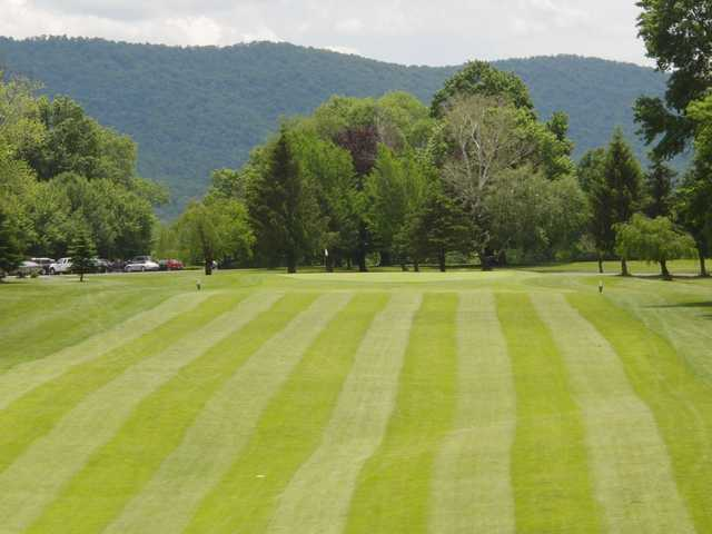 A view of a green at Lewistown Country Club