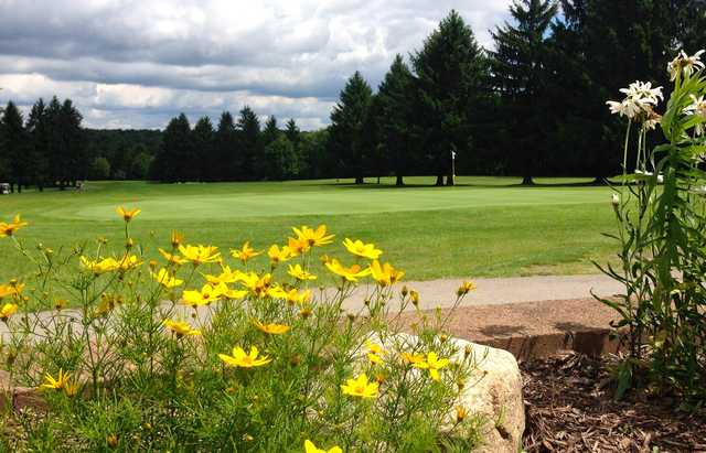A view of the 9th green at Whispering Pines Golf Course