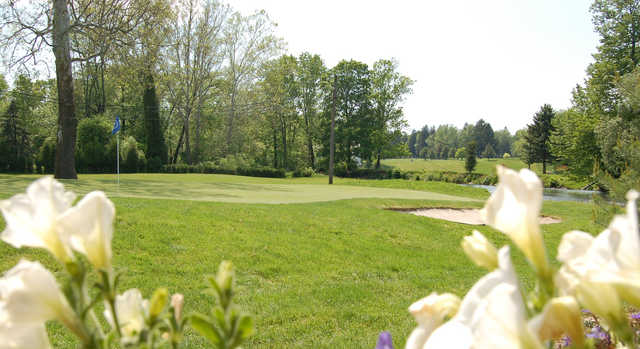 A view of a green at Clinton Country Club.