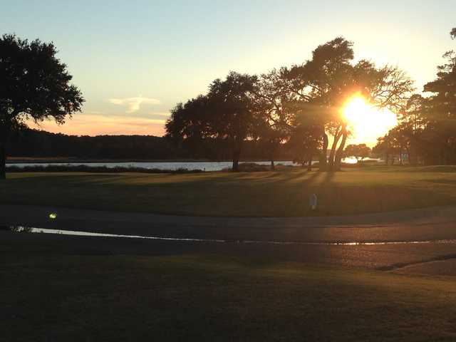 A sunset view from Glen Dornoch Waterway Golf Links