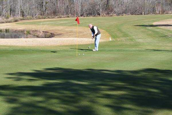 A view of a hole at Fox Creek Golf Course