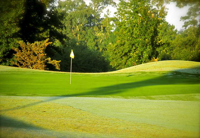 A view of a green from Players Course at Wyboo Plantation