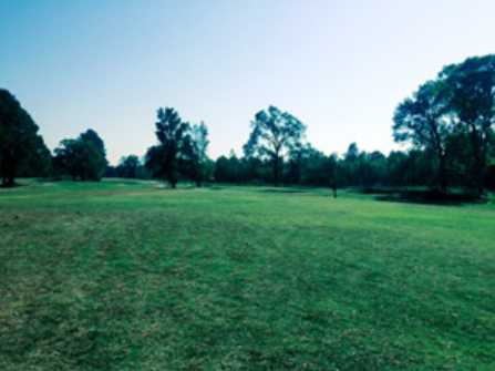 A view of a fairway at Dusty Hills Country Club