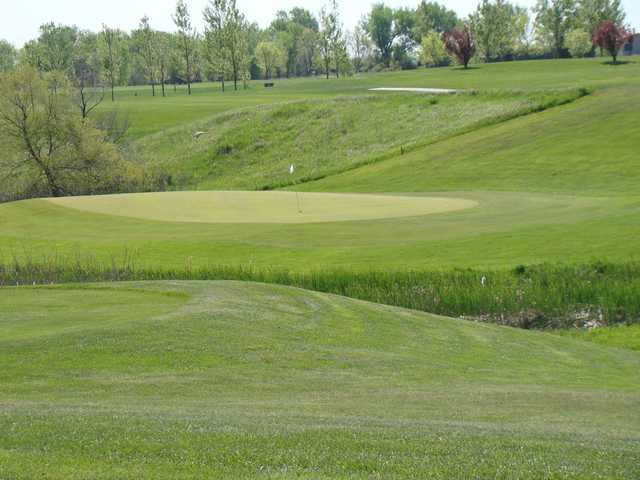 A view of a green at Broadland Creek National Golf Course