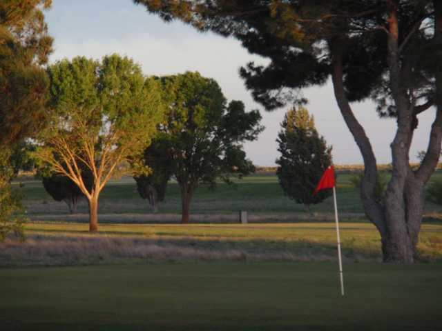 A view of a hole at Yoakum County Golf Club