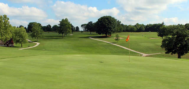 A view of a hole at Unity Village Golf Course.