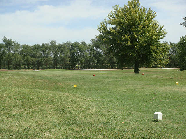 A view from a tee at Burning Tree Golf Club