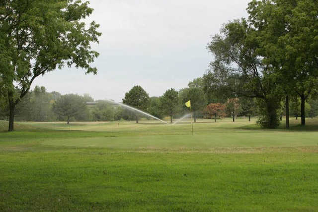 A view of a green at Burning Tree Golf Club