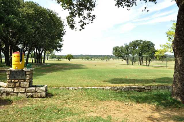 A view of the practice area at Holiday Hills Golf Course