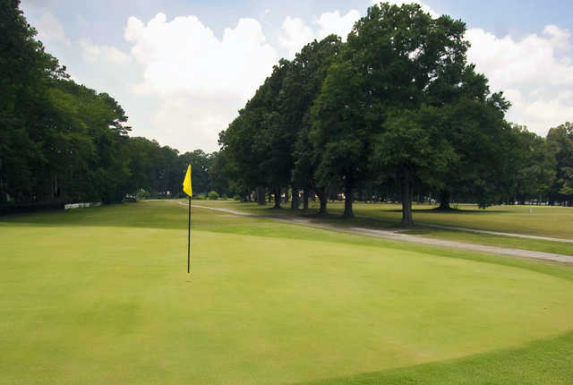 A view of a hole at Bow Creek Golf Course