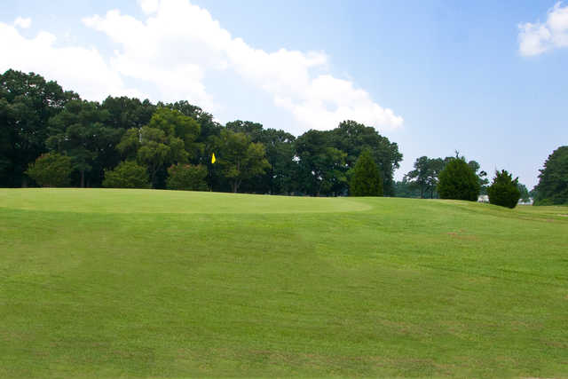 A view of a green at Bow Creek Golf Course