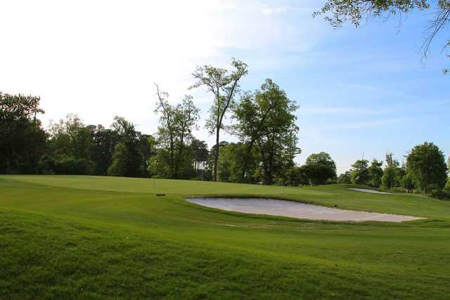 A view of a green at Honey Bee Golf Club