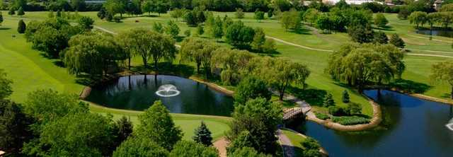 Aerial view from Willow Crest Golf Club