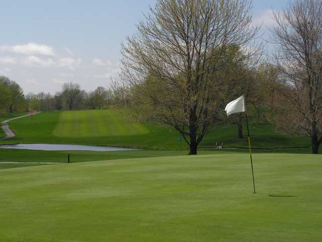 A view of a green at Excelsior Springs Golf Club