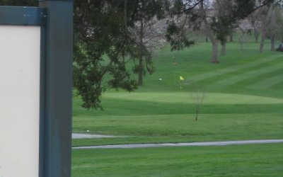 A view of a green at Pleasant Hills Golf Course
