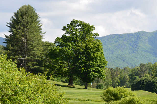 A view of a green at Black Mountain Golf Course