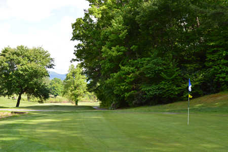 A view of hole #13 at Black Mountain Golf Course