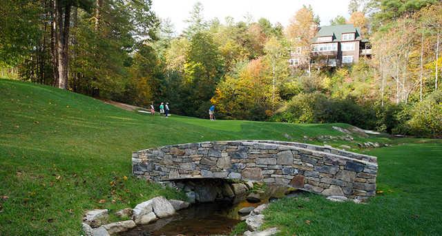 A view over a bridge at Champion Hills Golf Club
