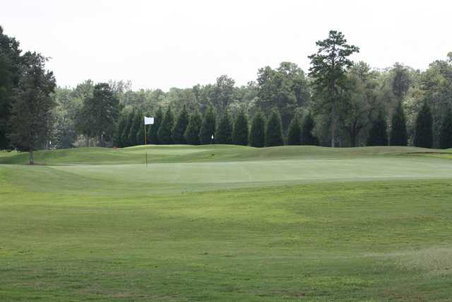 A view of a green at Creek Golf Club