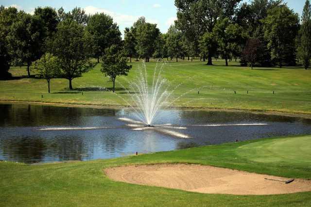 A view over a pond at Bois de Sioux Golf Course