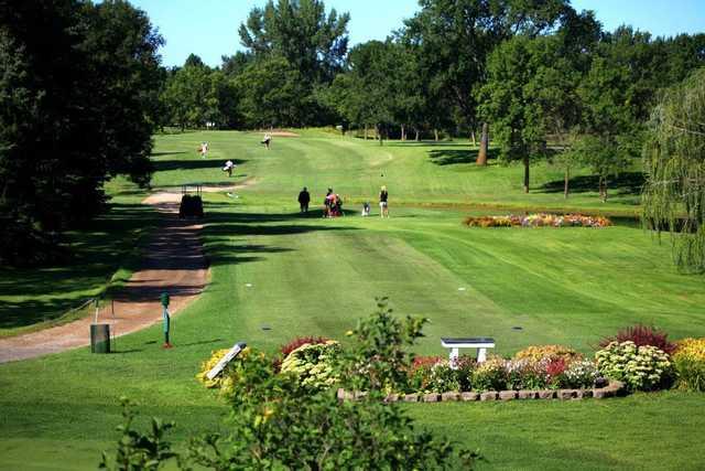 A view of a tee at Bois de Sioux Golf Course