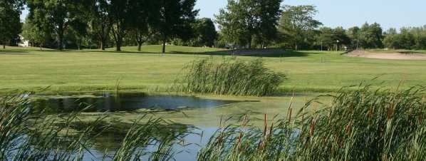 A view of the short game area at Deer Creek Golf Club