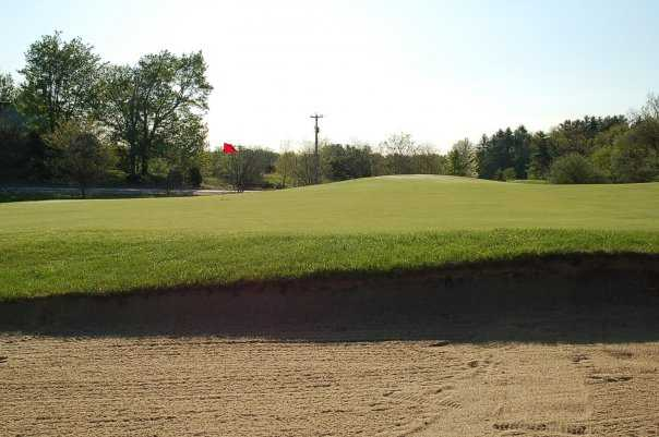 A view of the 13th green at Amherst Country Club