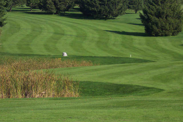 A view of a fairway at Spring Valley Golf Course